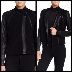 Vince leather point jacket sz XS